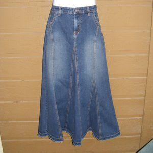 CABI Denim Skirt, 8, Maxi, Converted Jean look